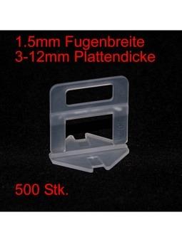 1.5mm Laschen, Plattendicke 3-12mm, 500 Stk.
