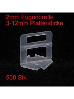 2mm Laschen, Plattendicke 3-12mm, 500 Stk.